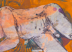 David ATC Collage Mixed Media 2