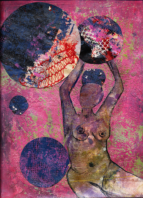 Erica 9 x 12 Collage Mixed Media