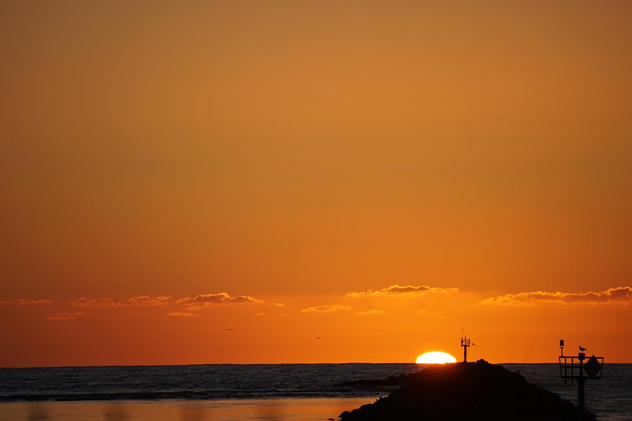 February sunsets